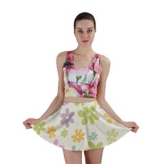 Beautiful spring flowers background Mini Skirt