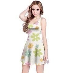 Beautiful spring flowers background Reversible Sleeveless Dress