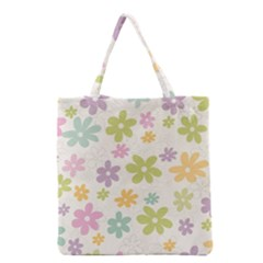 Beautiful spring flowers background Grocery Tote Bag