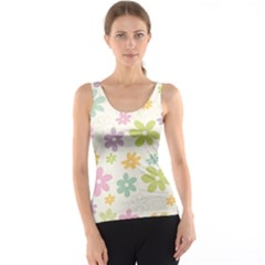 Beautiful spring flowers background Tank Top