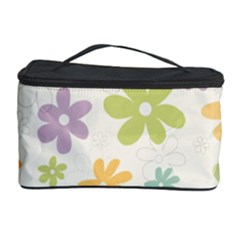 Beautiful spring flowers background Cosmetic Storage Case