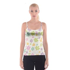 Beautiful spring flowers background Spaghetti Strap Top