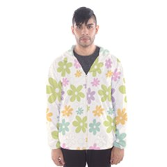 Beautiful spring flowers background Hooded Wind Breaker (Men)