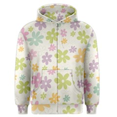 Beautiful spring flowers background Men s Zipper Hoodie