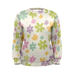 Beautiful spring flowers background Women s Sweatshirt