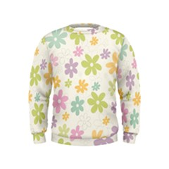 Beautiful spring flowers background Kids  Sweatshirt