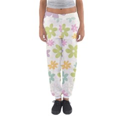 Beautiful spring flowers background Women s Jogger Sweatpants