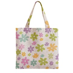 Beautiful spring flowers background Zipper Grocery Tote Bag
