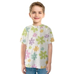Beautiful spring flowers background Kids  Sport Mesh Tee