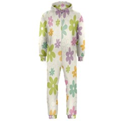 Beautiful spring flowers background Hooded Jumpsuit (Men)