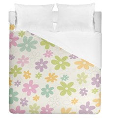 Beautiful spring flowers background Duvet Cover (Queen Size)