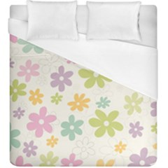 Beautiful spring flowers background Duvet Cover (King Size)