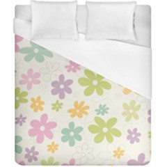 Beautiful spring flowers background Duvet Cover (California King Size)