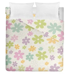 Beautiful spring flowers background Duvet Cover Double Side (Queen Size)