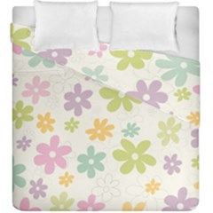 Beautiful spring flowers background Duvet Cover Double Side (King Size)