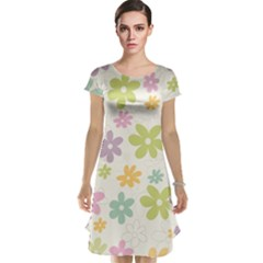 Beautiful spring flowers background Cap Sleeve Nightdress