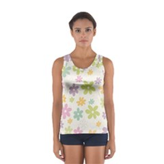 Beautiful spring flowers background Women s Sport Tank Top