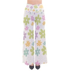 Beautiful spring flowers background Pants