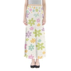 Beautiful spring flowers background Maxi Skirts