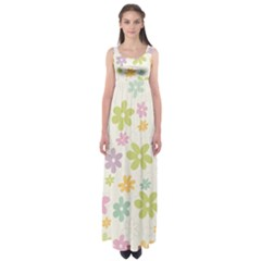 Beautiful spring flowers background Empire Waist Maxi Dress