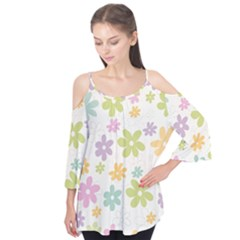 Beautiful spring flowers background Flutter Tees