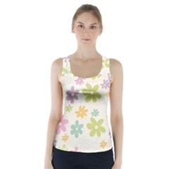 Beautiful spring flowers background Racer Back Sports Top