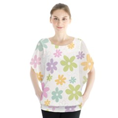 Beautiful spring flowers background Blouse