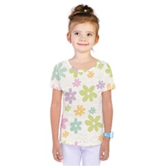 Beautiful spring flowers background Kids  One Piece Tee