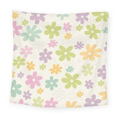 Beautiful spring flowers background Square Tapestry (Large)