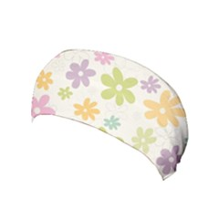 Beautiful spring flowers background Yoga Headband