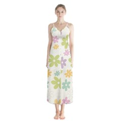 Beautiful spring flowers background Chiffon Maxi Dress