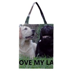 I Love My Labs W Pic Classic Tote Bag