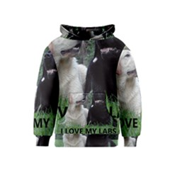 I Love My Labs W Pic Kids  Pullover Hoodie