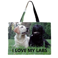 I Love My Labs W Pic Large Tote Bag