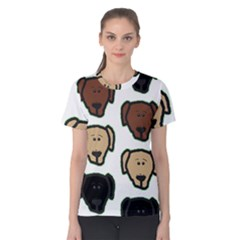 Lab 3 Colors Cartoon Head Women s Cotton Tee