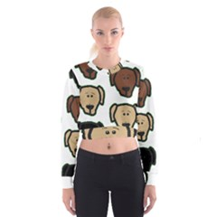 Lab 3 Colors Cartoon Head Cropped Sweatshirt