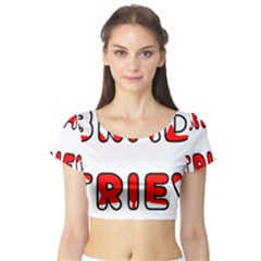 Lab Canadian Flag In Name Short Sleeve Crop Top (Tight Fit)