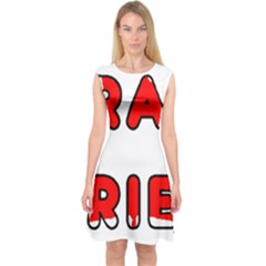 Lab Canadian Flag In Name Capsleeve Midi Dress
