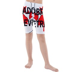Lab Name Canadian Flag Paw Kids  Mid Length Swim Shorts