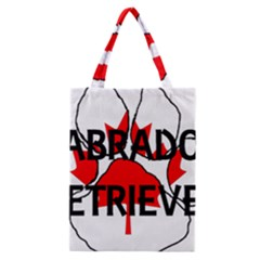 Lab Name Canadian Flag Paw Classic Tote Bag
