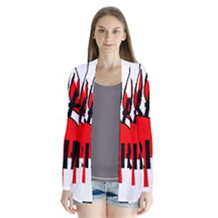 Lab Name Canadian Flag Paw Cardigans