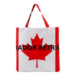Lab Name Canadian Flag Grocery Tote Bag