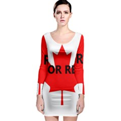 Lab Name Canadian Flag Long Sleeve Bodycon Dress