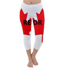 Lab Name Canadian Flag Capri Winter Leggings