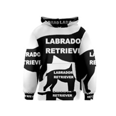 Labrador Retriever Black Name Color Silo Kids  Pullover Hoodie