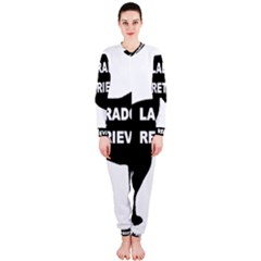 Labrador Retriever Black Name Color Silo OnePiece Jumpsuit (Ladies)