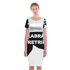 Labrador Retriever Black Name Color Silo Classic Short Sleeve Midi Dress