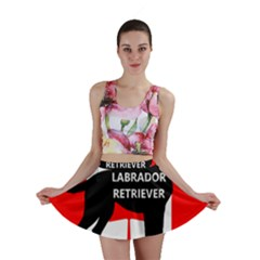 Labrador Retriever Name Silo Canadian Flag Mini Skirt
