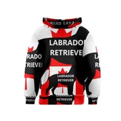 Labrador Retriever Name Silo Canadian Flag Kids  Pullover Hoodie