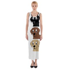 Labs 3 Colors Cartoon Head Fitted Maxi Dress